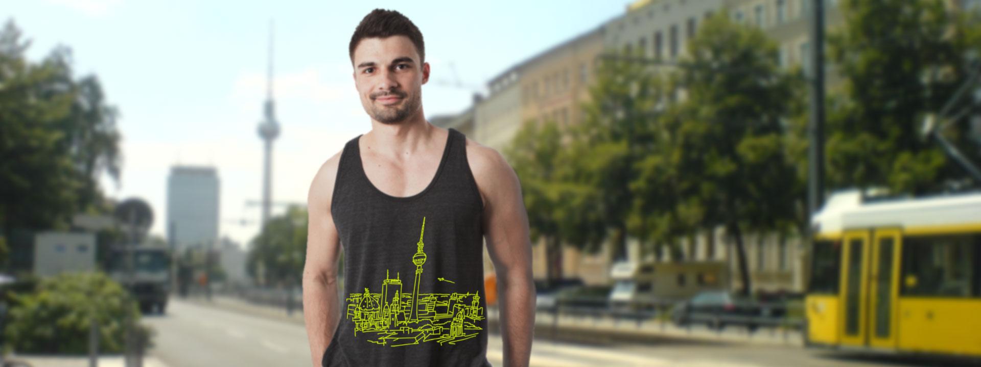 BERLIN Panorma, Tanktop, Berlin-T-shirt