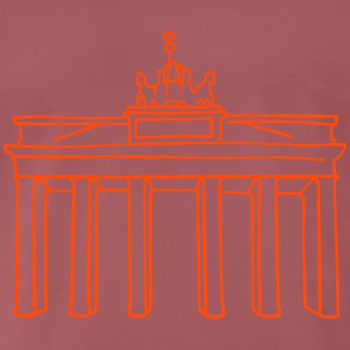 Berlin, Brandenburger Tor ,neon, Männer T-Shirt