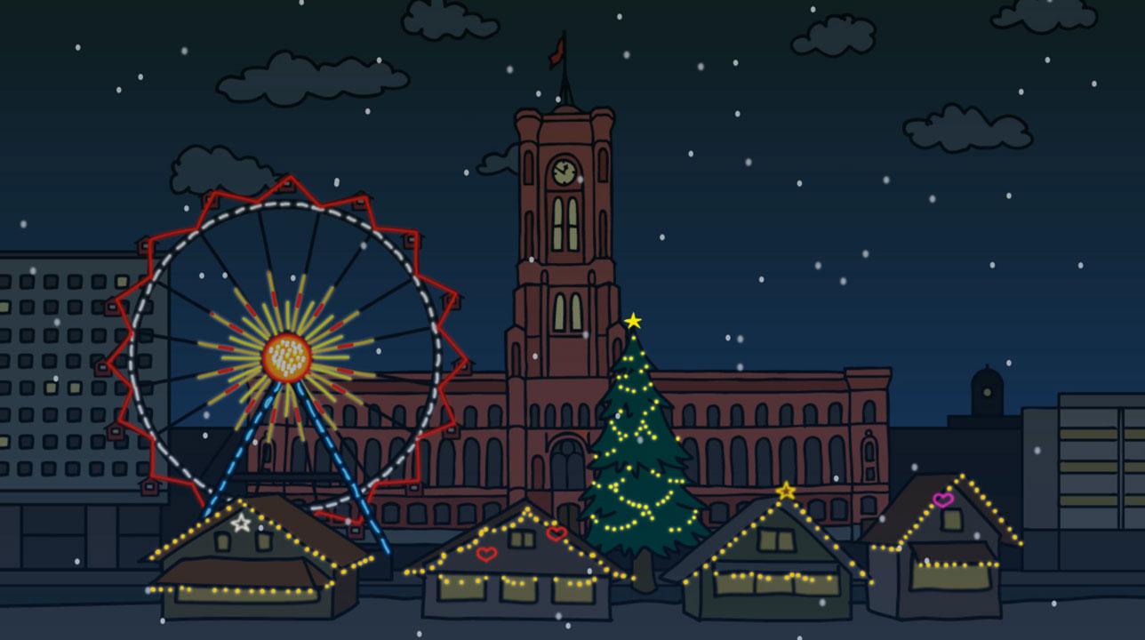 Weihnachtsmarkt am Roten Rathaus